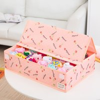 Wholesale 15 grids foldable oxford fabrics organizer storage box set underwear box for bra underwear tie socks