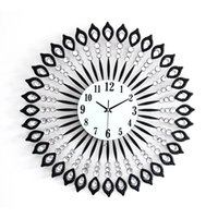 Wholesale 1 Creative wrought iron set auger wall clock Sitting room large size quiet clock Modern electronic technology supe