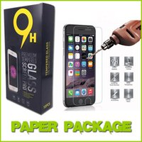 Wholesale Top Quality Tempered Glass Screen Protector Screen Protectors For iphone S Film mm D H Explosion Proof Paper Package