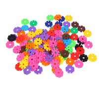 Wholesale 100 Piece Children Puzzle Toy Multicolor Plastic Snowflake Building Blaocks Kid s Toy Assemble Toy Early Childhood Toys