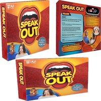 Wholesale New Board Game Mouthguard Challenge Game Speak Out Toy Funny Mouthguard Mouthpiece Challenge Family Game