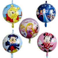 Aluminium Coating Cartoon Yiwu Toy 50pcs lot mickey minnie balloons for birthday party reading book cartoon helium balloon baloes minnie and mickey mouse toys