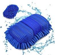 Wholesale Ultrafine Fiber Chenille Anthozoan Car Wash Sponge Gloves Car Washer Supplies