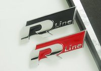 auto modify - 100pcs Metal Auto Logo Emblem Sticker For VW Volkswagen Car Badges Modify Decoration R Rline R line Logo