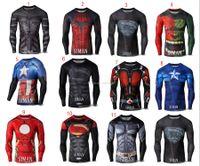 Wholesale The Avengers T shirts Spider Man Superman Ant Man T shirts cartoon Captain America Batman Hulk iron Man Tee tops for big boy C503