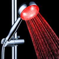 Wholesale Rainfall LED Shower Head Automatic Control Sprinkler Chuveiro Temperature Sensor Color Changing Showers Heads
