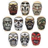 Wholesale Details about Neoprene FULL Face Reversible Biker Skateboard Motor Bike Scary Sports Mask