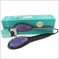 electric comb - 2016 New DAFNI Hair Straightener Brush Comb Hair Straightening Irons Electric Dafni Hair Brush Straight Hair Styling Tool VS Hair Curler