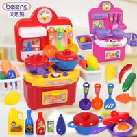 Wholesale Children play toy kitchen cooking kitchen set doll house girl home cooking toys