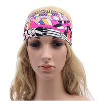 Wholesale Floral Women s headband Women wide headband Yogo headband Jersy women girl Hair Wraps Fashion Boho headband
