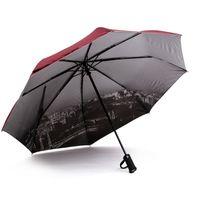 Gros-Brand Elephants Hommes automatique Parapluie 2016 Creative LED Flashlight Umbrella pluie Femmes Tour Eiffel Parasol de plage