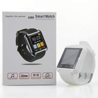 android cellphone watch - Smart Watch U80 U Watch U8 Smartwatch Bluetooth Wrist Watch For Samsung S6 HTC Huawei Android IOS CellPhone Smartphones with Gift Box