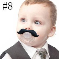 Wholesale Funny Mustache Baby Boy Girl Infant Pacifier Orthodontic Dummy Beard Nipples Colors