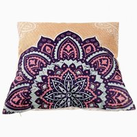 Wholesale 1pc Fashion Cushion Cover Pillowcases Purple Pattern Pillow Cover Sofa Bed Pillow Case Home Bed Decor