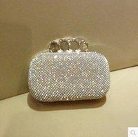 Wholesale Cheap Double diamond Handbags four finger caught sparkling bingbing diamond wedding Bags Evening party dress collocation women handbags