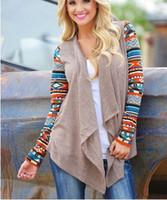 Wholesale 2016 autumn new fashion long sleeve kints Irregular Cardigan tees Casual Loose Knit Waterfall Cardigan knits