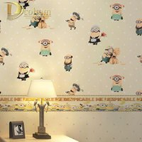 anime girl wallpaper - Cartoon Anime Minions Children Wallpaper Rolls Contemporary Minimalist Cozy Boy Girls Kid Room Decorative Wallcovering R610