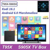 Wholesale 2017 Latest Android tv box T95X Amlogic S905X Quad Core Android Kodi GB RAM GB Flash Miracast WiFi DLNA p