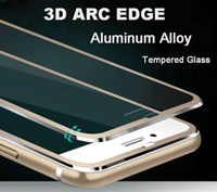 arc aluminum - 3D Arc Edge Aluminum Alloy Tempered Glass Full Screen Protector For Apple iPhone S Plus H Hardness Screen Protective Film