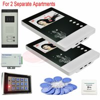 apartment door security - For Separate Apartments Color Video Door Phones Intercom Systems LCD and keys Security Doorbell Access Control System