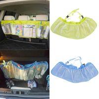 Wholesale Car Seat Tidy Bag Large Car Auto Seat Tidy Organiser Storage Multi Pocket Bag Holder Green