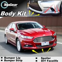 Wholesale Bumper Lip Lips For Ford For Mondeo Contour Front Skirt Deflector Spoiler For Car Tuning The Stig Recommend Body Kit Strip