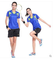 badminton shorts - Suit badminton jersey table tennis women s short sleeved clothes tennis clothes quick drying shirt lapel badminton clothes