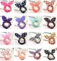asian hair colors - hair accessories for women Chiffon Fabric Fashion Women Cute Mix Colors Bowknot Style Hair Rubber Bands SHR454