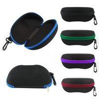 Wholesale Universal Sunglasses lense storage organizer holder Box Compression eyeglass Case para Glasses Eyewear Box Cover Zipper Hook Bag