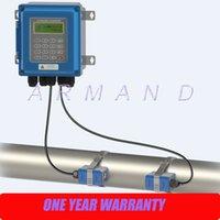Wholesale Wall mounted ultrasonic liquid flowmeter IP67 protection TM Transducer DN50mm DN700mm TUF B Digital Flow Meter