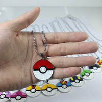 action jewelry - 12 models of children toys poke mon Poke Ball pendant necklaces alloy Poket Monster pendants Action Figures Anime jewelry Christmas gift