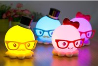 Wholesale Novelty Indoor LED Lighting Octopus Table Lamps Creative Night Lights Home Decoration Ornament Amazing Arts and Crafts Gifts