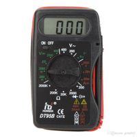 Wholesale HD quot LCD Mini Digital Multimeter DMM Ammeter Voltmeter Ohmmeter w Battery Test Tester Meter Megohmmeter Multimetro DT95B