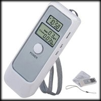 Wholesale by DHL or EMS pieces Portable Breath Alcohol Analyzer Digital Breathalyzer Tester with dual screen