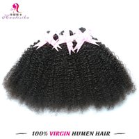 Wholesale Cheap Braided Hair Extensions - Afro Curl Mongolian Hair Cheap Price But Quality Human Hair Double Weft Extensions Braiding Virgin Remy Dyeable Hair Free Shiping