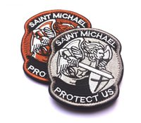 archangel series - 2016 Protection PROTECT US SAINT MICHAEL Archangel Saint Michael Velcro patch badge stickers