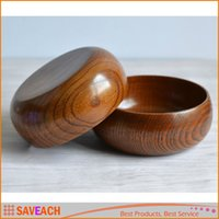 Wholesale New Wooden Round Calabash Bowl Wood Soup Rice Noodles bowls Diameter cm Bowl Tableware Kitchen Tools