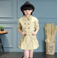 Wholesale HOT new autumn outfit han edition children trench coat two piece teamed in female children cultivate one s morality