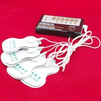 Cheap Adult Electric Shock Sex Toys for Couple Clitoris Nipple Stimulation Four Self-adhesive Patch