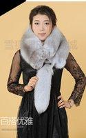 arctic fox furs - Fox fur collar scarf shawl Their men and women with blue fox arctic fox scarf shawls scarf customizable gray