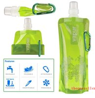 Wholesale Water Bottle Comes Flat Foldable Water Bottle Collapsible Litres Anti Bottle DHL Fedex