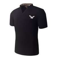 Wholesale Men summer new short sleeve cotton casual fitness tops amp tees eagle logo t shirt homme camisas brand clothing t shirt