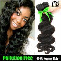 Wholesale Brazilian Hair Weave Body Wave UNPROCESSED Virgin Hair Indian Malaysian Peruvian Remy Human Hair Extensions PC Double Weft Bundle Hair
