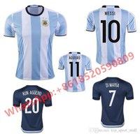 argentina t shirts - New Top Thailand Quality Argentina Soccer Jersey Adult Men Football T shirt MESSI Home Blue Away Navy Camiseta de Futbol Futebol