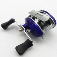 fish salt - Royal Blue Baitcasting Fishing Reel Lure Casting Reels wheel lateral roller fishing reel salt water wheel with nylon line
