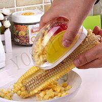 Wholesale 1 NEW corn kernels stripping device Corn plane Easy gadgets creative convenient kitchen corn peeling threshing corn stripper
