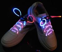 Wholesale Led Light Luminous Shoelace Glowing Shoe laces Glow Stick Flashing Colored Neon Shoelace chaussures led