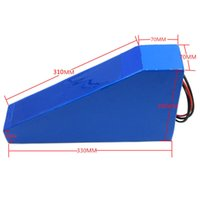 bicycle battery bag - V AH Scooter battery W V Electric Bicycle battery V AH triangle Lithium battery with bag A BMS A charger