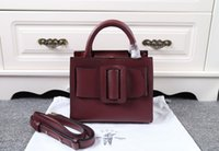 belt clutch - Clutch Bags New Women Crossbody Bag Small Fashion Burgundy Bag Belt Boyy Handbag Leather High Quality Bobby Bags Single Shoulder Bag
