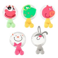 Wholesale cute Cartoon sucker toothbrush holder suction hooks bathroom set accessories Eco Friendly new arrival